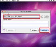 Как подключить сетевую папку в Mac OS